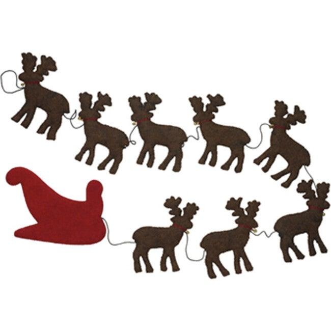 Reindeer Garland, Brown/Red