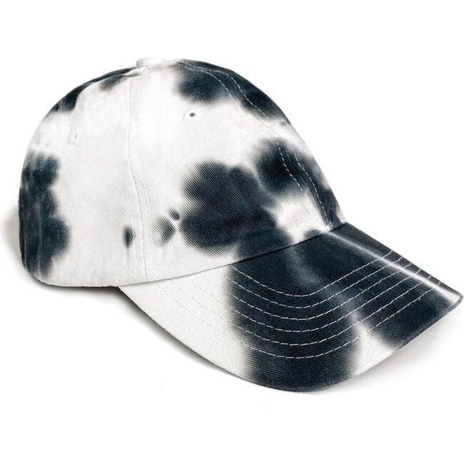 Black tie-dye Cap, Black - Hats - 1