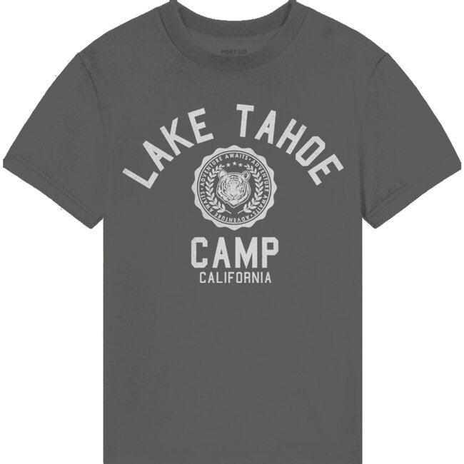 Lake Tahoe Camp Tee, Washed Black