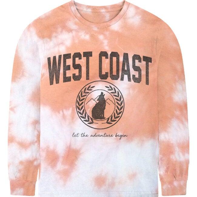 West Coast Tee, Pink tie-dye