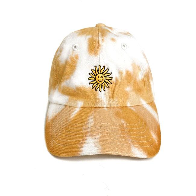 Happy Sun Cap, Mustard tie-dye