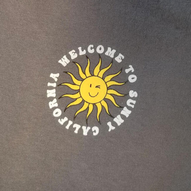 Sunny Cali Tee, Washed Black