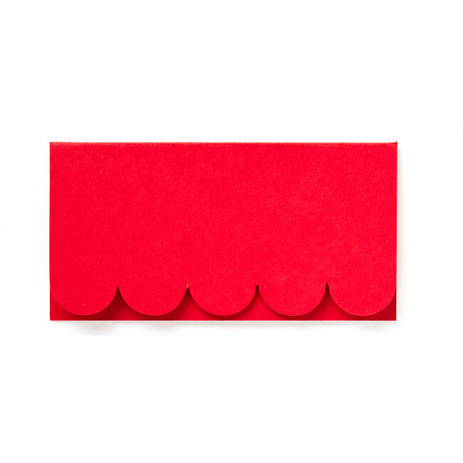 Scallop Place Cards, Red