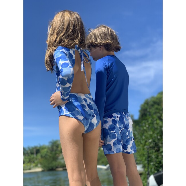 Boy short, Bubble blue