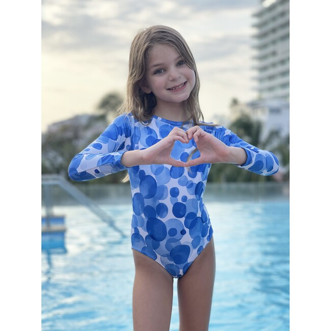 Bella Long Sleeve One Piece, Bubbly Blue