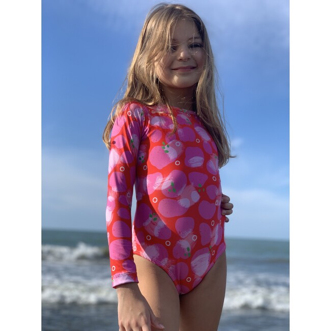 Bella Long Sleeve One Piece, Pink fest
