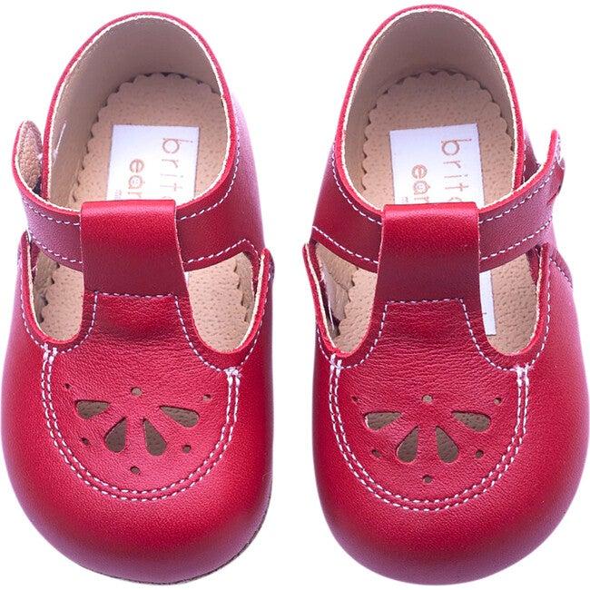 Robin British Pre-Walker Baby Shoe - Pillar Box Red