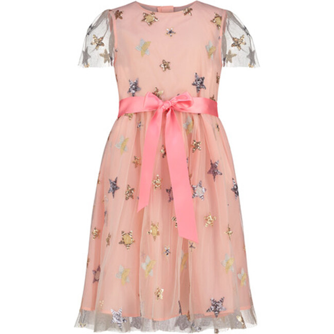 Embroidered Star Dress, Pale Pink