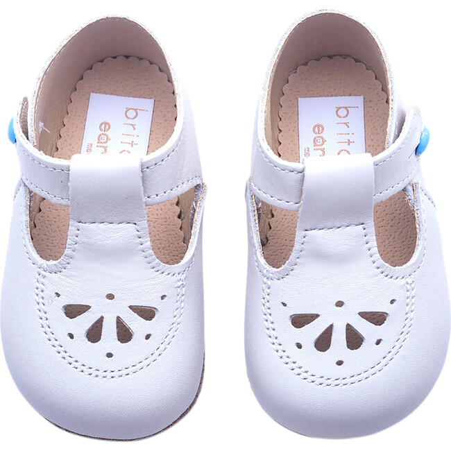 Robin British Pre-Walker Baby Shoe - Classic Ivory