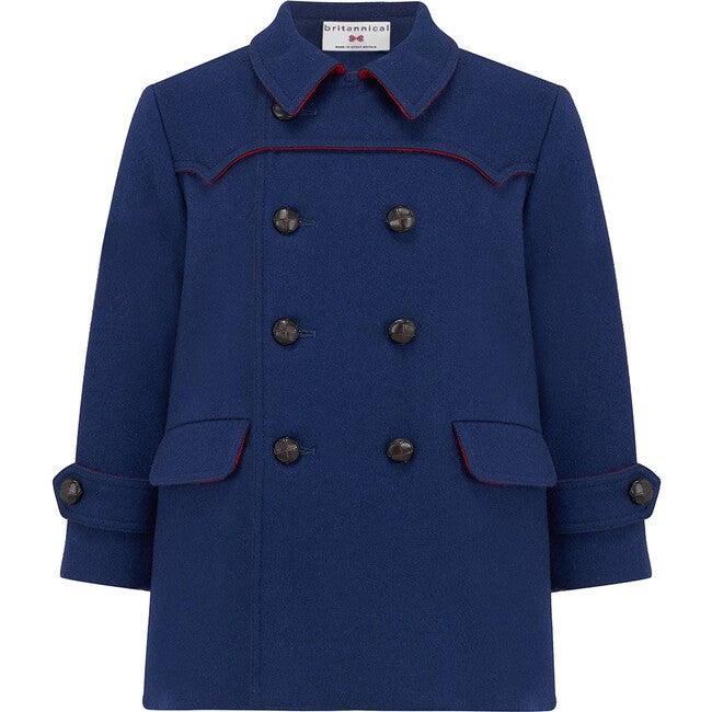 Marylebone Pea Coat, Portland Blue