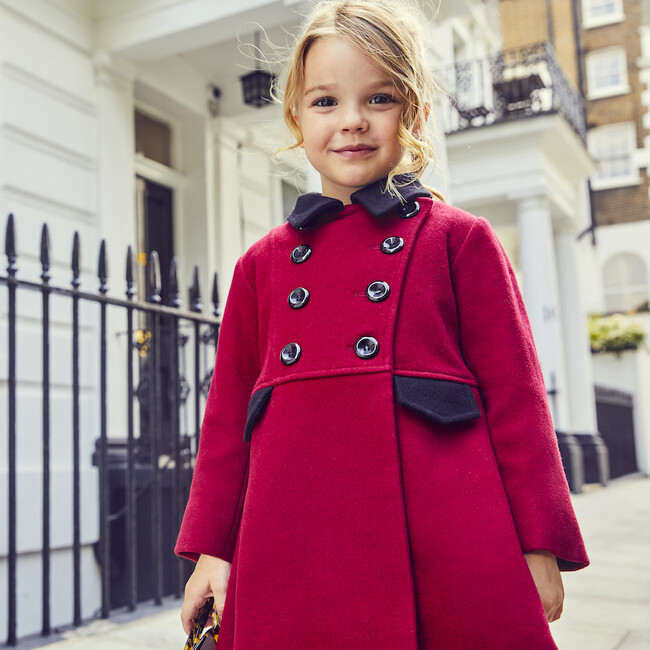 Piccadilly Dress Coat, Theatrical Red