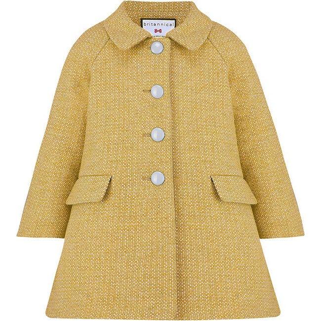 Islington Coat, Honey Yellow - Wool Coats - 1