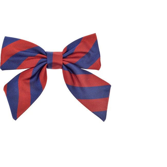 St Clement's Neck Bow, Blue & Red Varsity Stripes