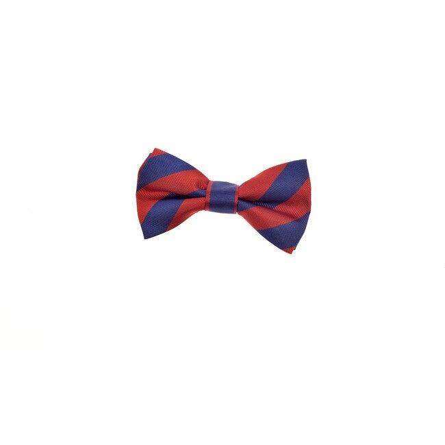 Henley Bowtie, Blue & Red Varsity Stripes