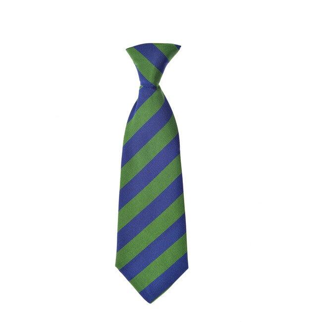 Cherwell Neck Tie, Blue & Green Varsity Stripes