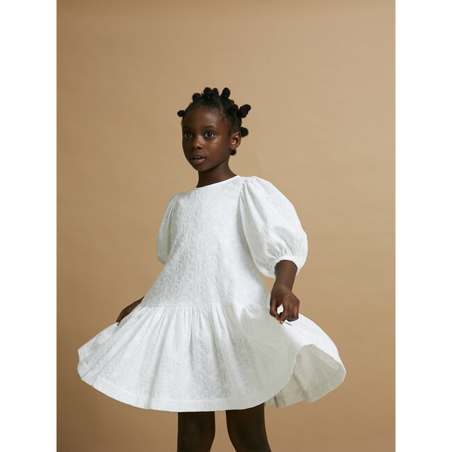 Up Up and Away Dress, White