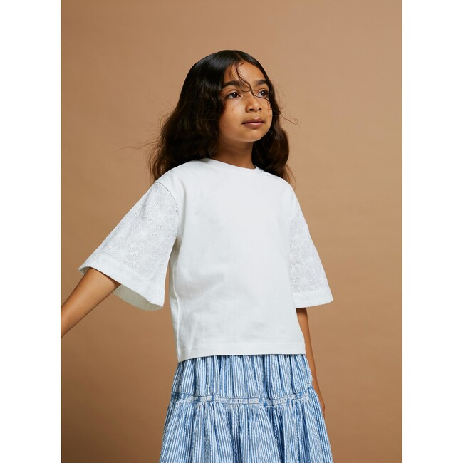Swing Into Action Blouse, Sunblock White