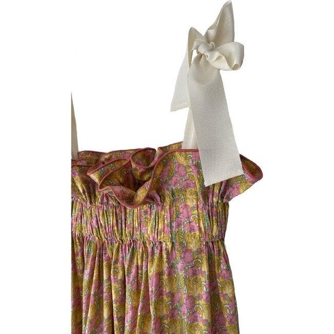 Women's Jaime Dress, Pink & Gold Floral