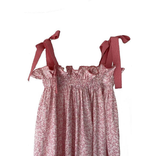 Jaime Dress, Pink and White Floral