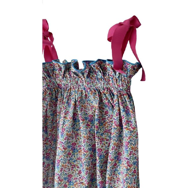 Jaime Dress, Raspberry Floral