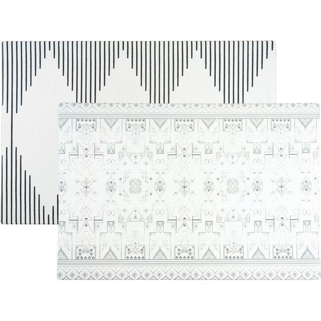 Reversible Tribal & Mecca Foam Playmat, Black/White