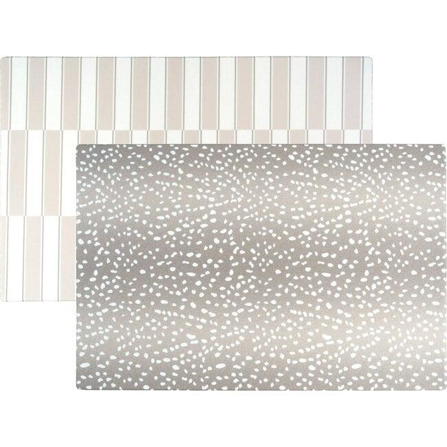 Reversible Antelope & Stripe Foam Playmat, Grey