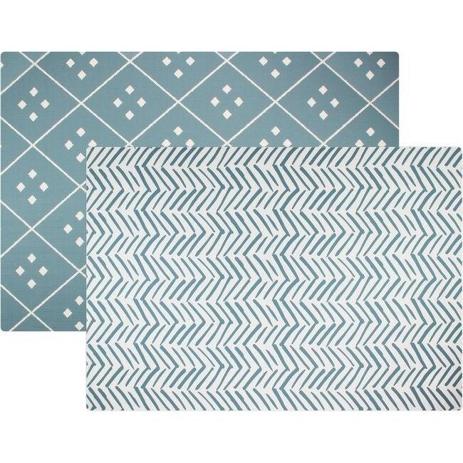 Reversible Dash & Diamond Foam Playmat, Blue
