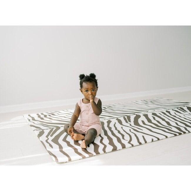 Reversible Zebra & Stripe Foam Playmat, Brown