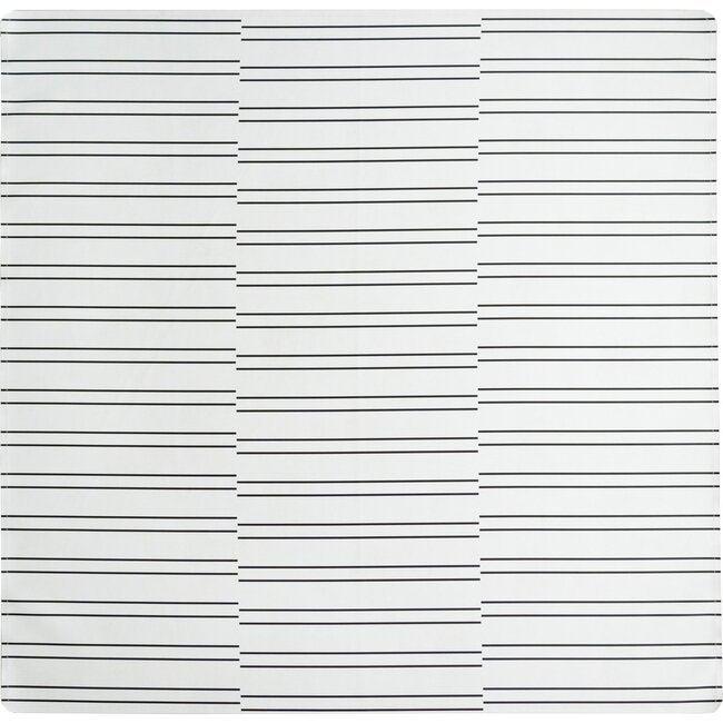 Vegan Leather Play Mat, Stripes
