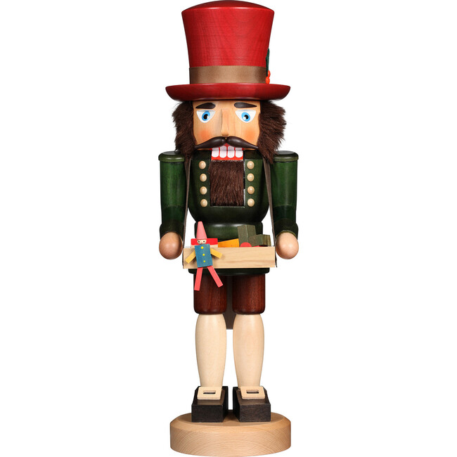 Toy Trader Nutcracker, Red/Green - Accents - 1