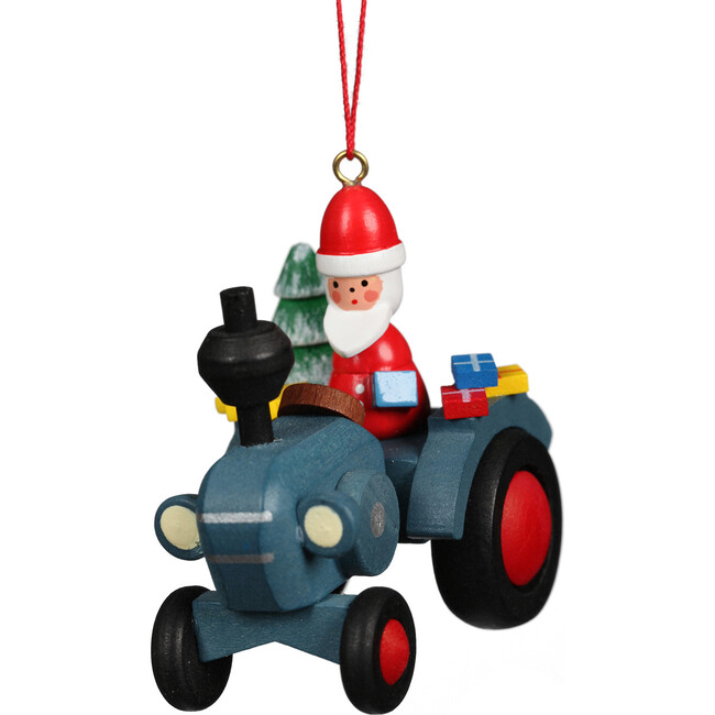 Tractor with Santa Ornament