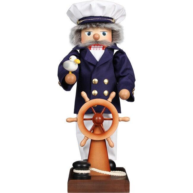 Large Ship Captain Nutcracker, Blue - Accents - 1