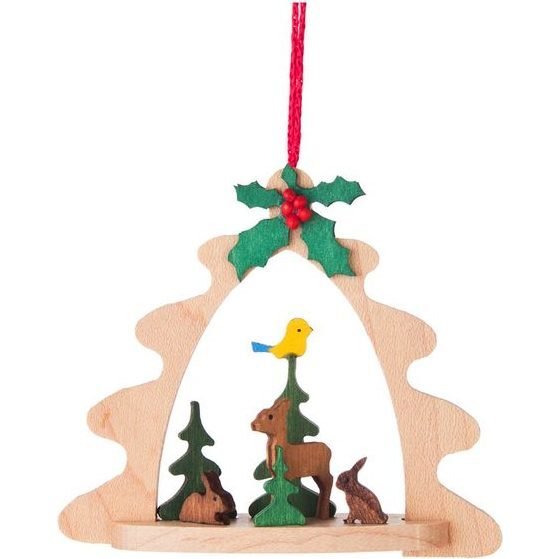 Arch Deer with Bunnies Ornament