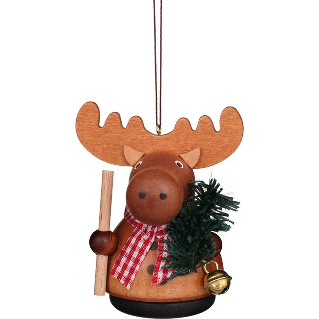 Moose Ornament, Natural