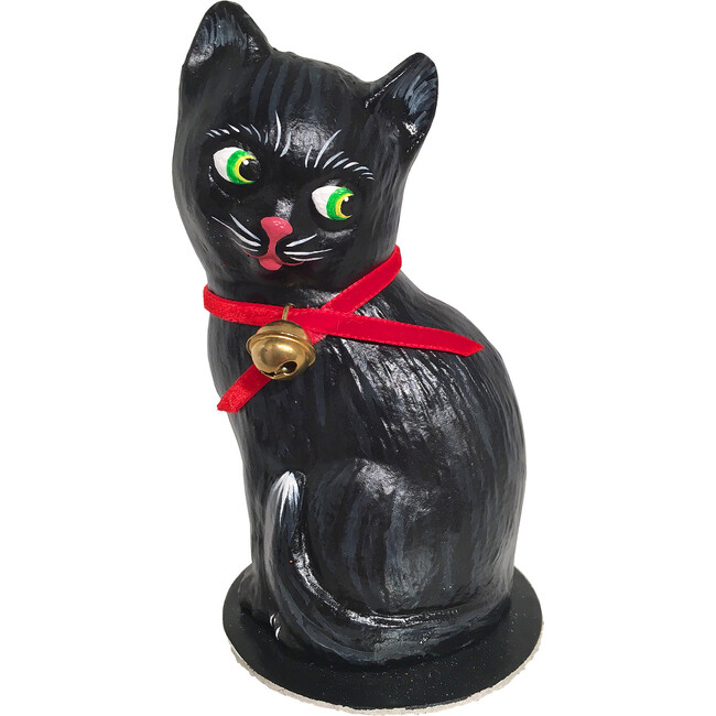 Paper Mache Candy Container, Black Cat