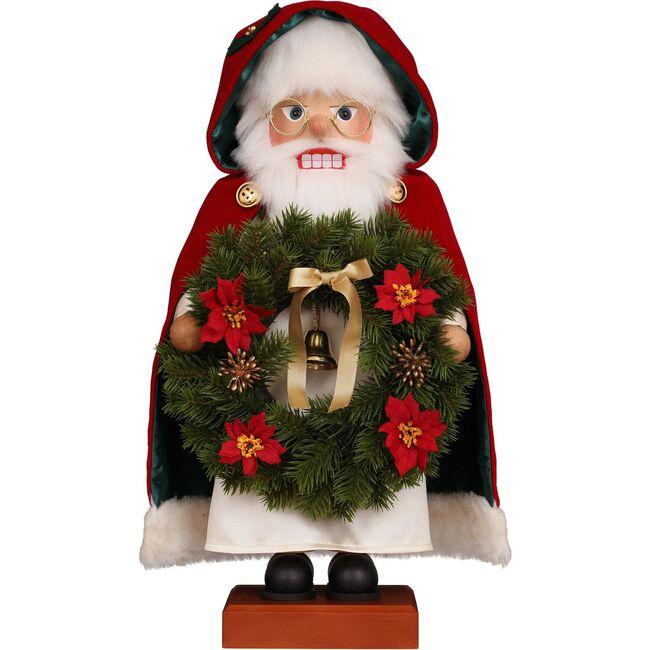 Santa with Wreath Nutcracker