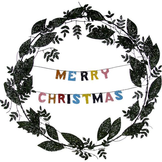Merry Christmas Wreath, Green