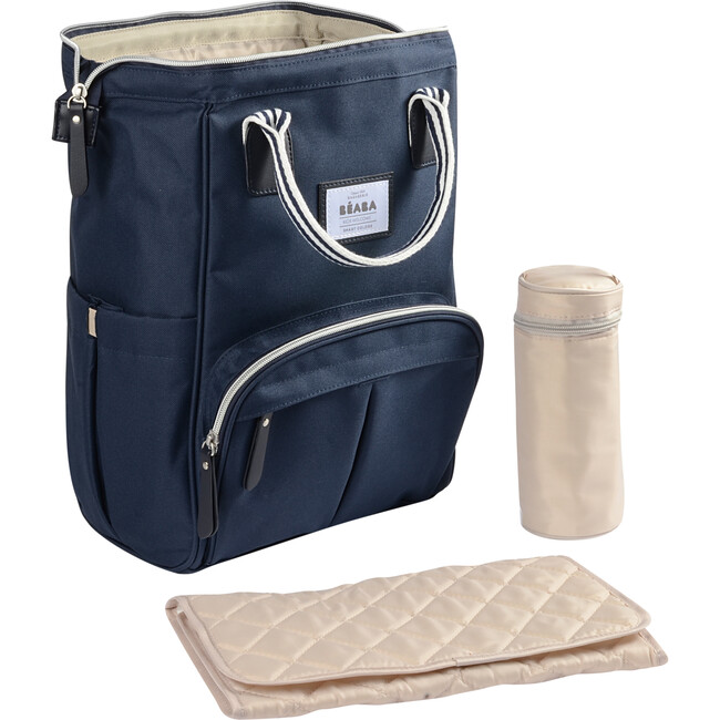 Wellington Backpack Diaper Bag, Navy