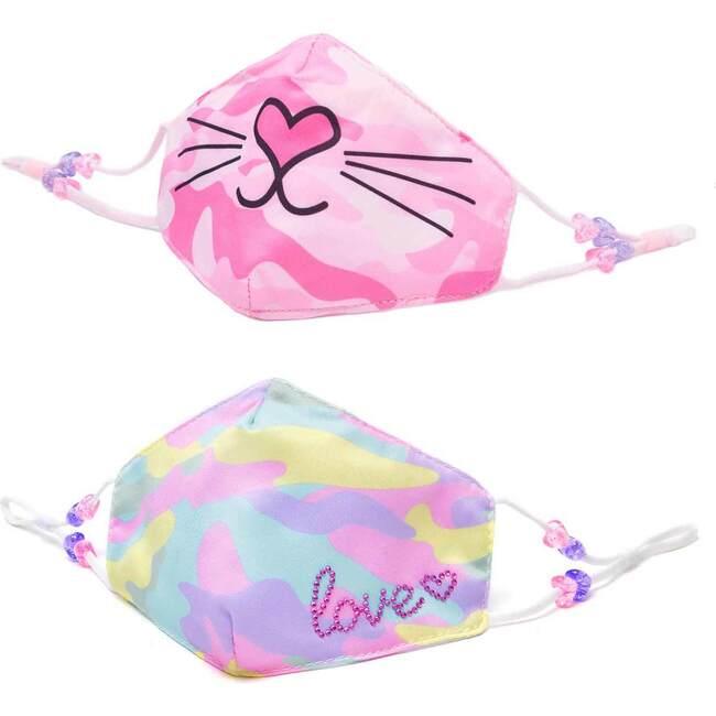 Camo Bella Kitty & Camo Love 2pc Face Mask Set