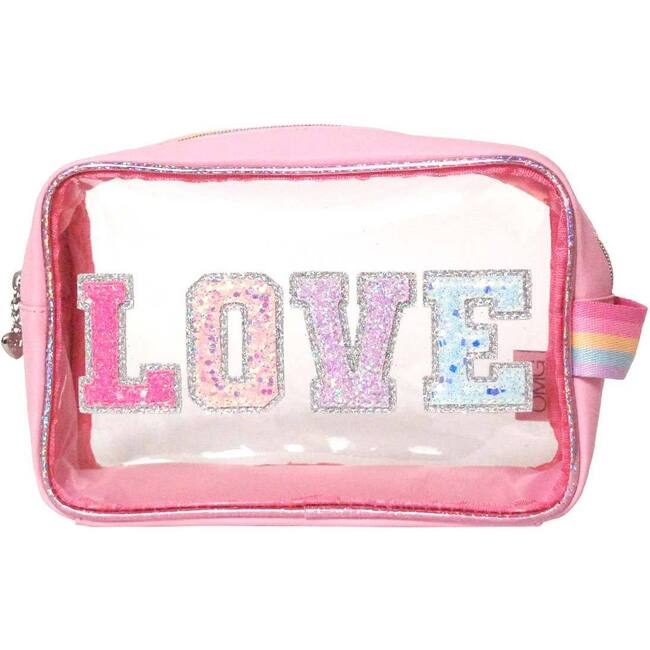 Clear LOVE Pouch, Pink