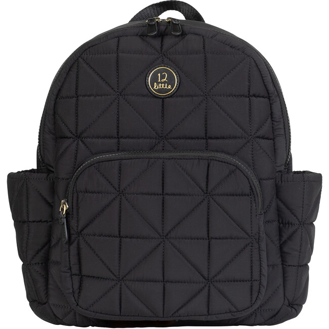 Quilted Little Companion Backpack, Black