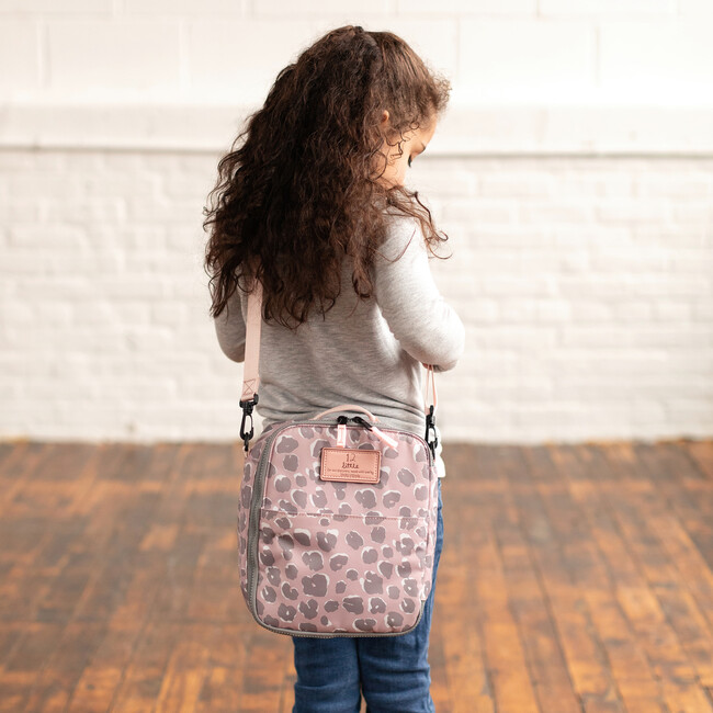 Adventure Lunch Bag, Pink Leopard