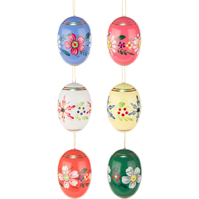Set of 6 Easter Ornament, Easter Eggs - Ornaments - 1