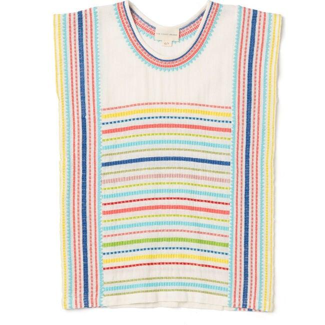 Kehei Dress Girls, Coral/Blue/Yellow Multi