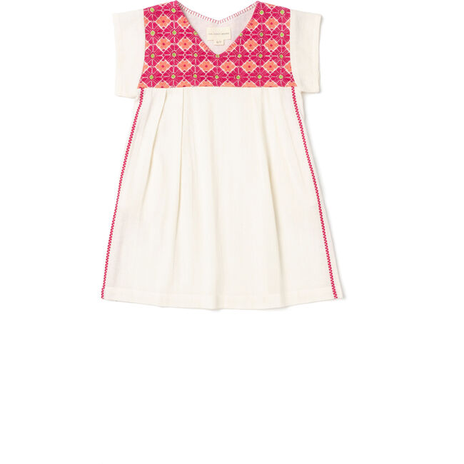 Hanalei Dress Girls, Hot Pink/Coral/Neon Green
