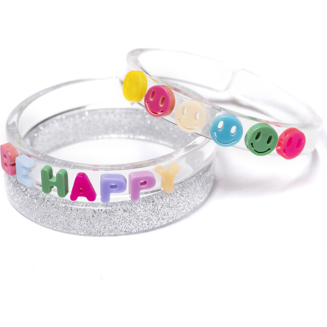 Happy Face Bracelets, Neon