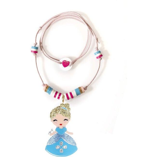 Cute Doll Blue Dress Necklace