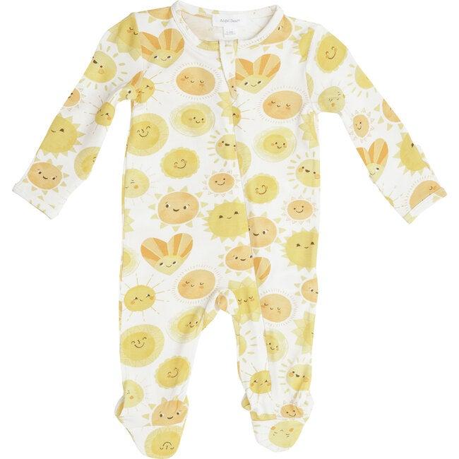 Sunshine Zipper Footie, Yellow