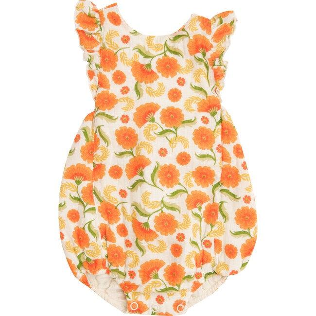 Marigold Swirl Sunsuit, Orange