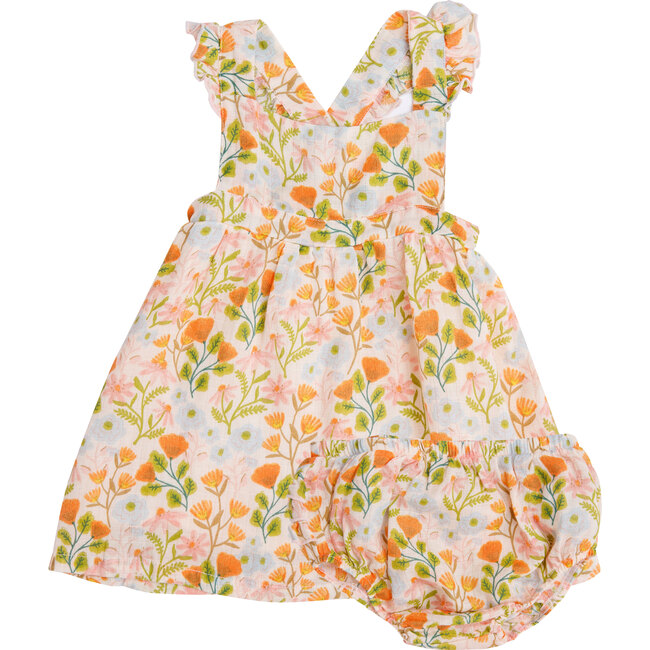 Honest Earth Floral Pinafore Top And Bloomer, Multi